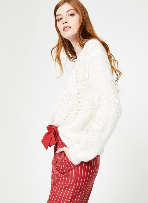 Vêtements Yuka Pull Helen Blanc vue droite