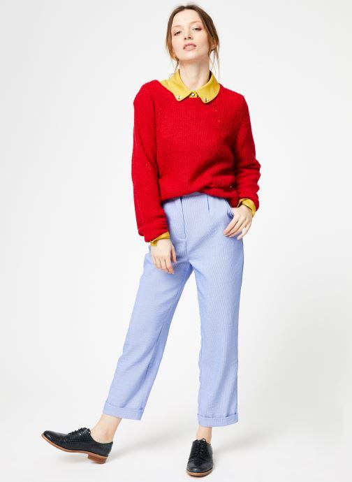 Vêtements Yuka Pull Helen Rouge vue bas / vue portée sac