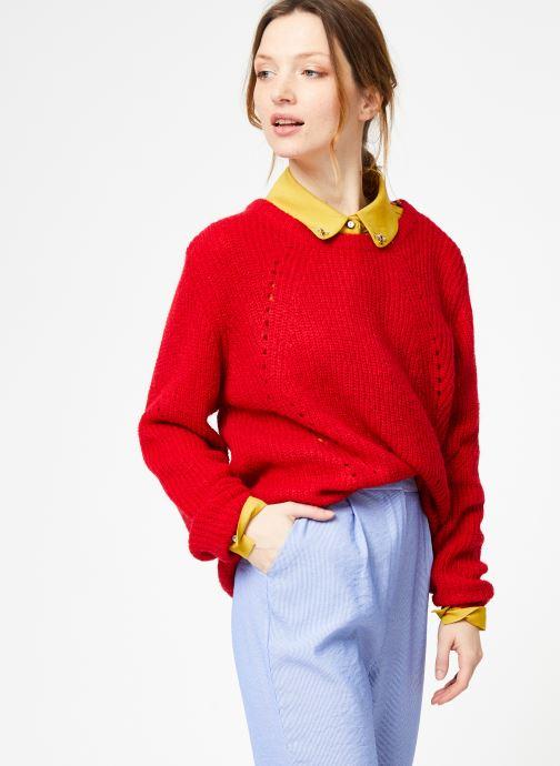 Vêtements Yuka Pull Helen Rouge vue droite