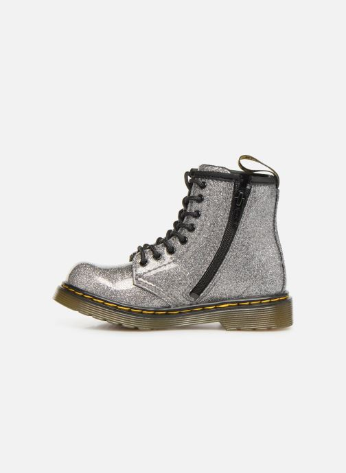 Ankle boots DR. Martens 1460 Glitter T Silver front view