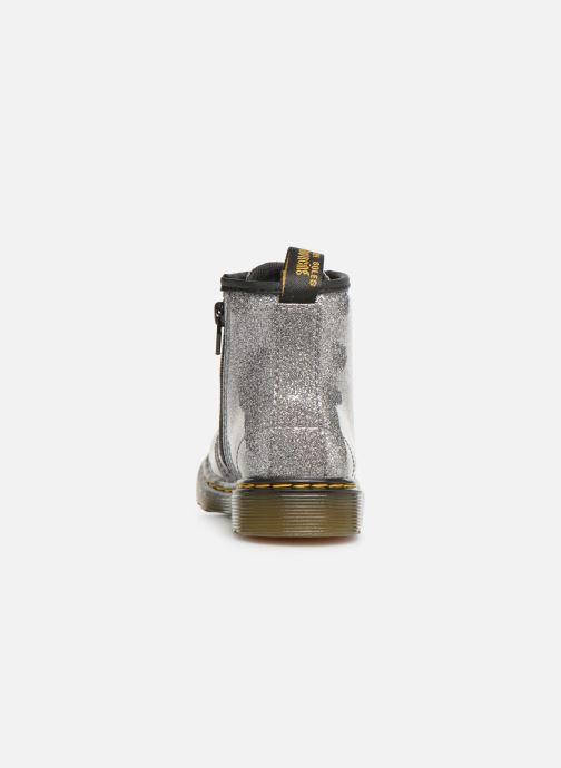 Bottines et boots Dr. Martens 1460 Glitter T Argent vue droite