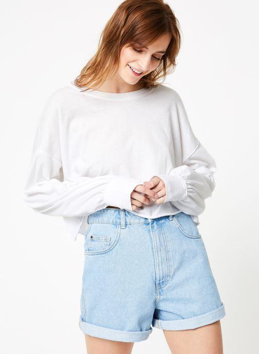 Vêtements Free People DENVER LONG SLEEVE Blanc vue droite