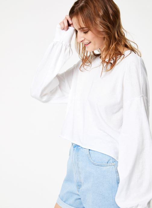 Vêtements Free People DENVER LONG SLEEVE Blanc vue détail/paire