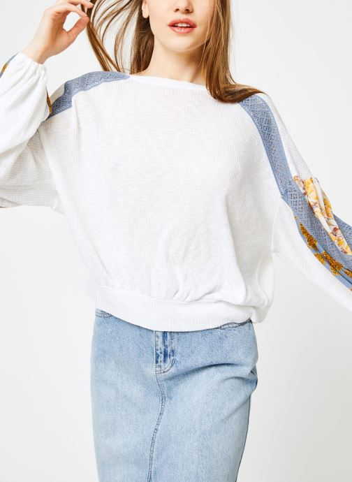 Vêtements Free People CASUAL CLASH TOP Blanc vue détail/paire