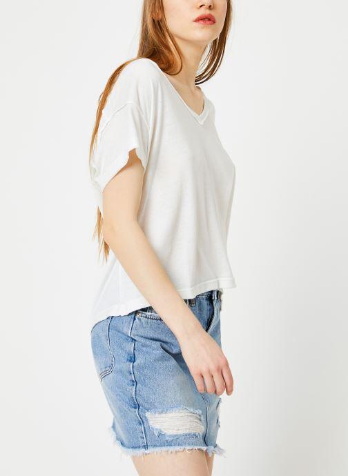 Vêtements Free People ALL MINE TEE Blanc vue droite