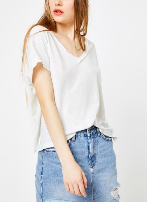 Vêtements Free People ALL MINE TEE Blanc vue détail/paire