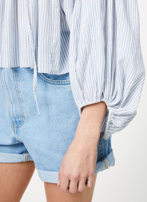 Vêtements Free People BEAUMONT MEWS STRIPE Bleu vue face