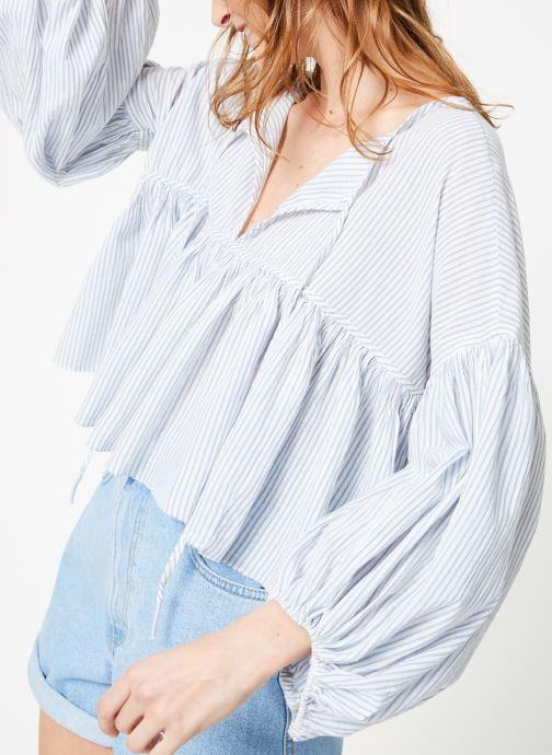 Vêtements Free People BEAUMONT MEWS STRIPE Bleu vue détail/paire
