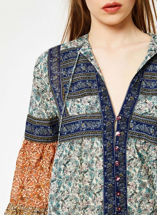 Vêtements Free People MUSIC OF THE NIGHT Bleu vue face