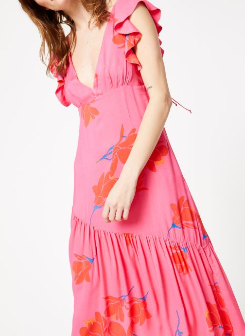 Kleding Free People SHE'S A WATERFALL MAXI Roze detail