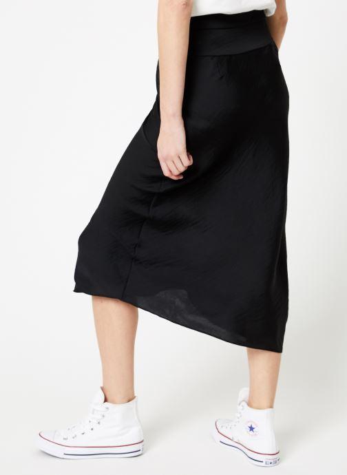 Vêtements Free People NORMANI BIAS SKIRT Noir vue portées chaussures