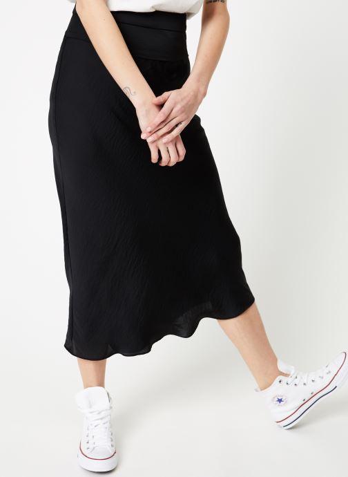 Vêtements Free People NORMANI BIAS SKIRT Noir vue détail/paire