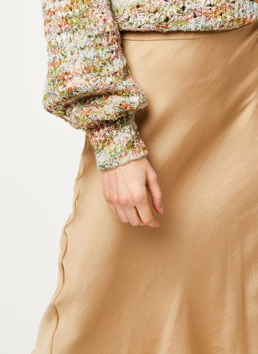 Vêtements Free People NORMANI BIAS SKIRT Beige vue face