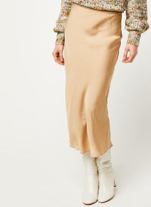 Vêtements Free People NORMANI BIAS SKIRT Beige vue détail/paire
