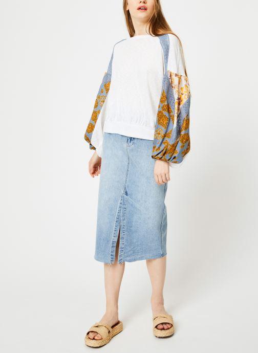 Vêtements Free People WILSHIRE DENIM SKIRT Bleu vue bas / vue portée sac
