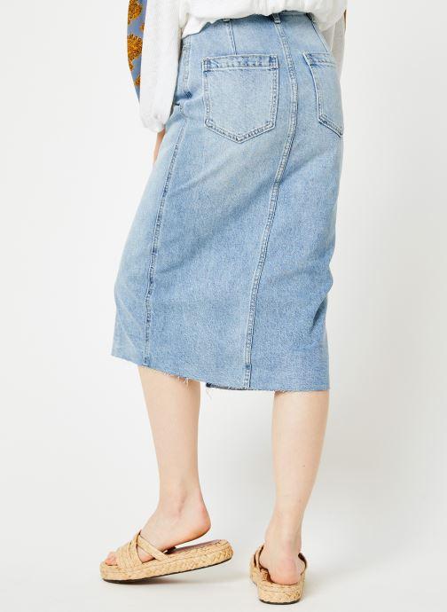 Vêtements Free People WILSHIRE DENIM SKIRT Bleu vue portées chaussures