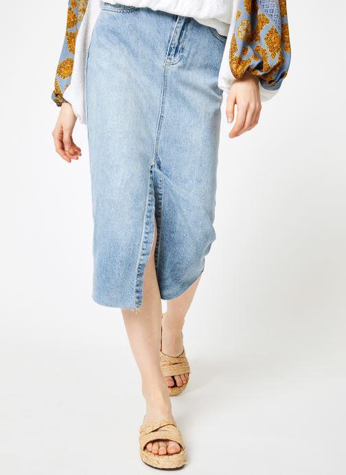 Vêtements Free People WILSHIRE DENIM SKIRT Bleu vue détail/paire