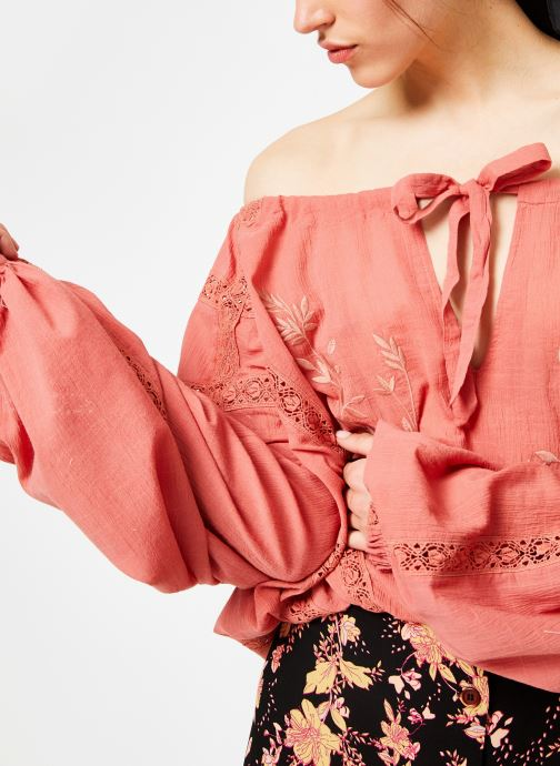 Kleding Free People MARIA MARIA LACE BLOUSE Oranje voorkant