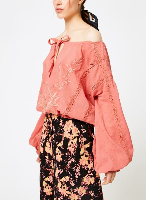 Kleding Free People MARIA MARIA LACE BLOUSE Oranje rechts