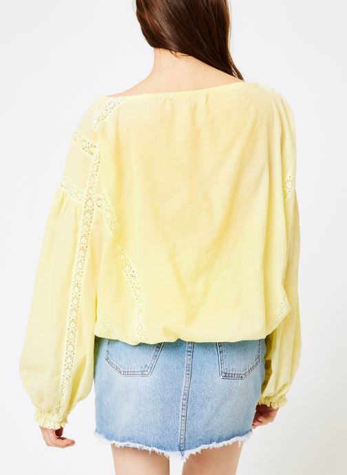 Kleding Free People MARIA MARIA LACE BLOUSE Geel model
