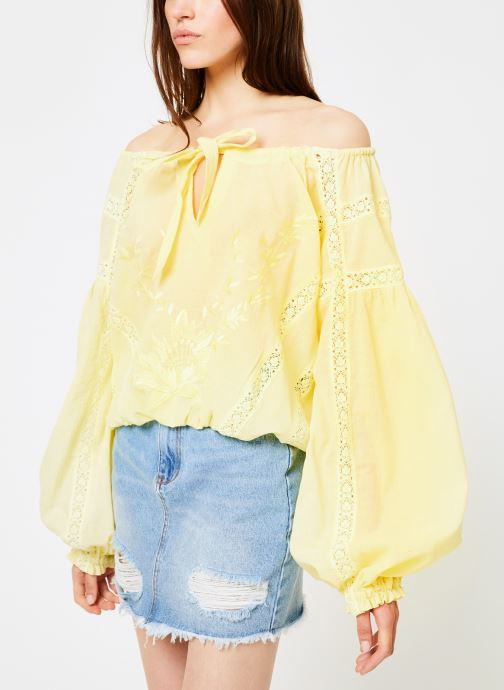 Kleding Free People MARIA MARIA LACE BLOUSE Geel rechts