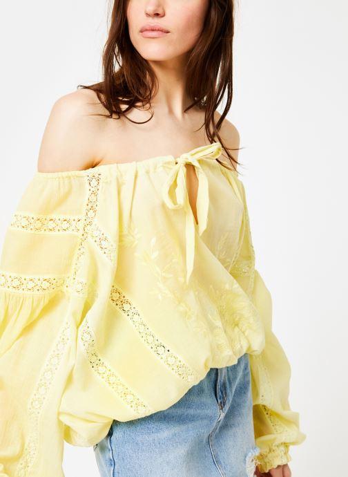 Vêtements Free People MARIA MARIA LACE BLOUSE Jaune vue détail/paire