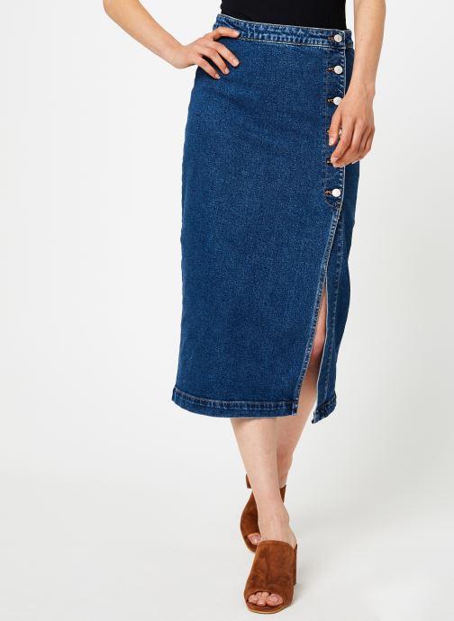Vêtements Free People JASMINE BUTTONED MAXI Bleu vue détail/paire