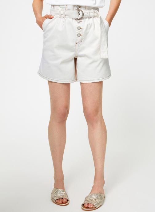 Vêtements Free People CINDY UTILITY SHORT Blanc vue détail/paire