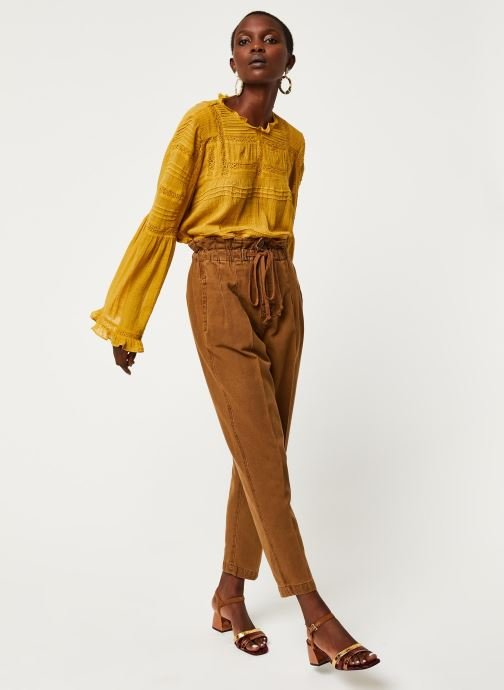 Kleding Free People MARGATE PLEATED TROUSER Bruin onder