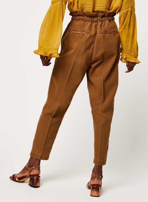 Kleding Free People MARGATE PLEATED TROUSER Bruin model