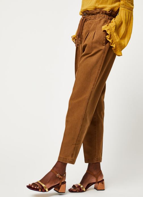 Kleding Free People MARGATE PLEATED TROUSER Bruin detail