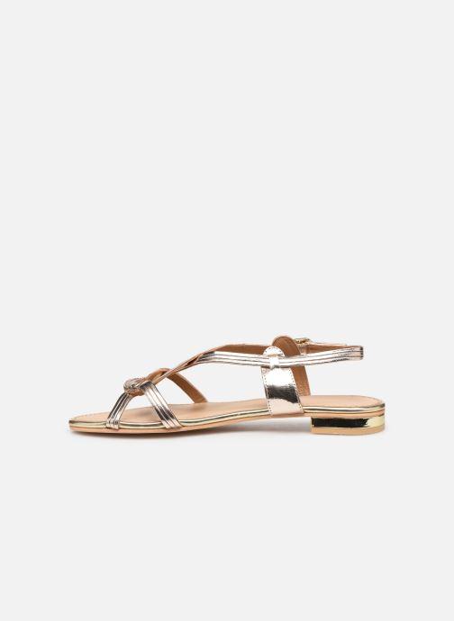 Sandals COSMOPARIS ILLAO/MET Bronze and Gold front view