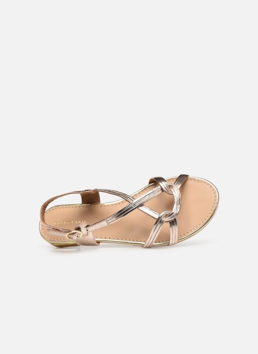 Sandals COSMOPARIS ILLAO/MET Bronze and Gold view from the left