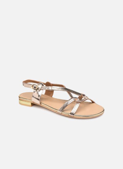 Sandals COSMOPARIS ILLAO/MET Bronze and Gold detailed view/ Pair view