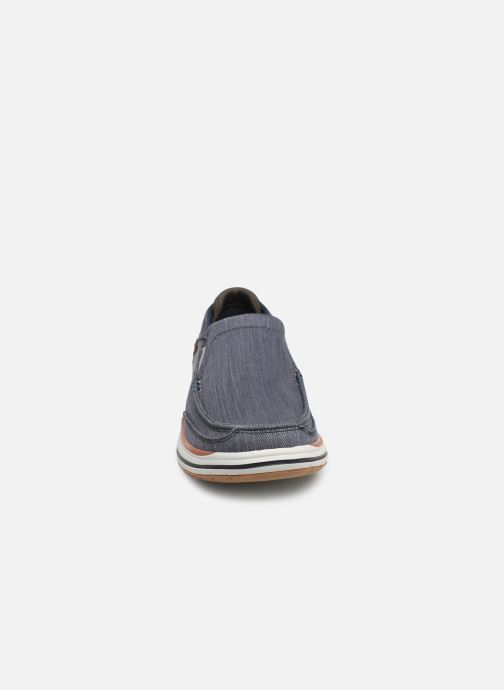 Baskets Skechers ElsonAmster Bleu vue portées chaussures