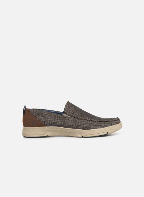 Sneakers Skechers Moogen Marrone immagine posteriore