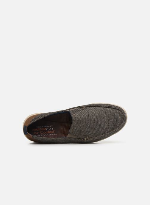 Sneakers Skechers Moogen Marrone immagine sinistra