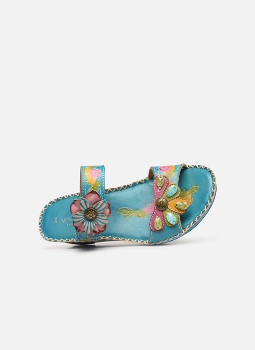 Mules & clogs Laura Vita Betsy 63 Blue view from the left
