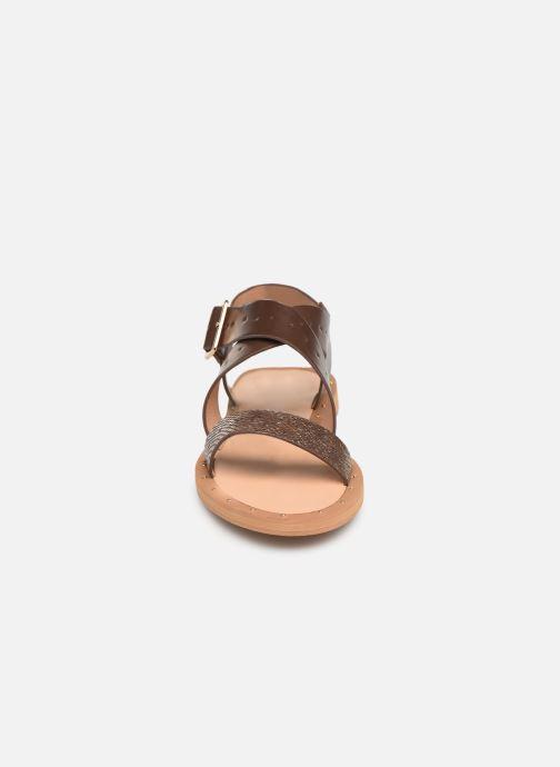 Sandales et nu-pieds Vanessa Wu SD1281 Marron vue portées chaussures