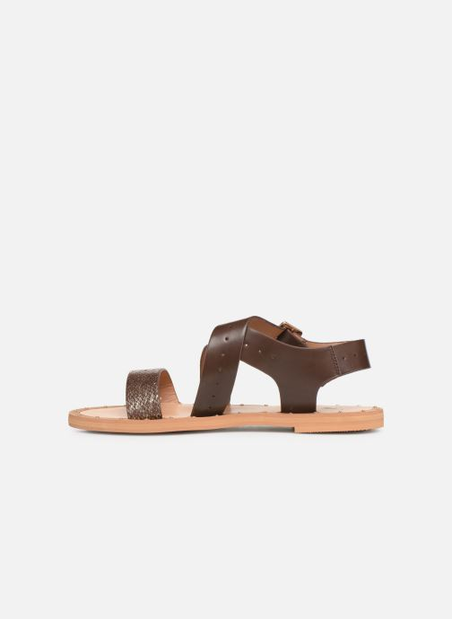 Sandales et nu-pieds Vanessa Wu SD1281 Marron vue face