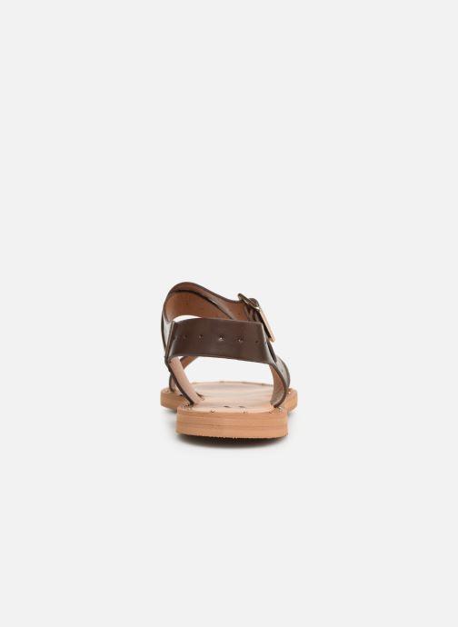 Sandali e scarpe aperte Vanessa Wu SD1281 Marrone immagine destra