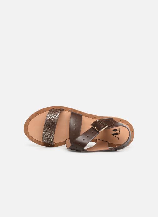 Sandales et nu-pieds Vanessa Wu SD1281 Marron vue gauche