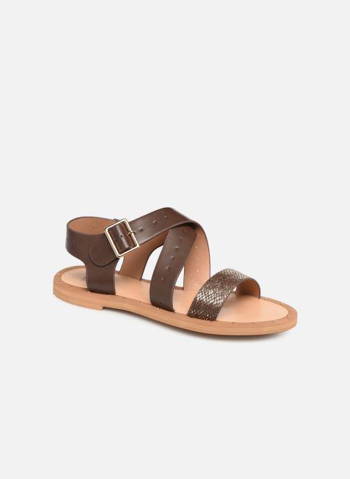 Sandales et nu-pieds Vanessa Wu SD1281 Marron vue détail/paire