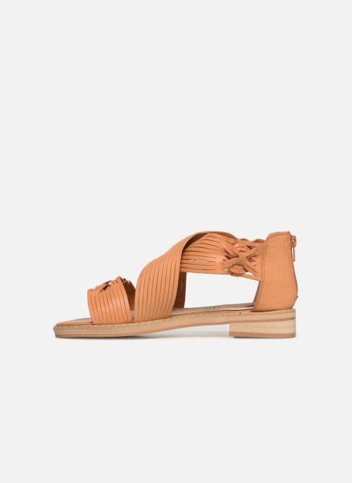 Sandales et nu-pieds Vanessa Wu SD1244 Marron vue face