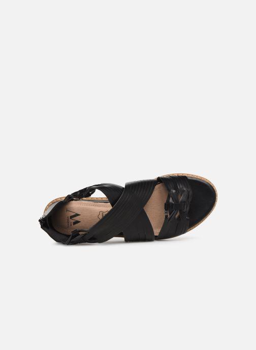 Sandales et nu-pieds Vanessa Wu SD1244 Noir vue gauche