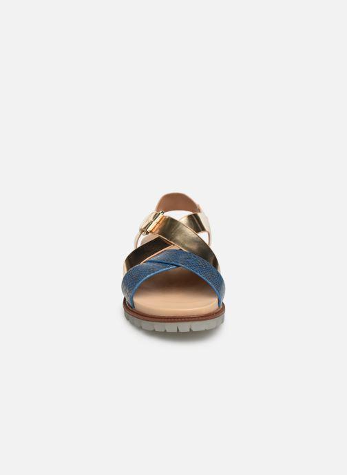 Sandales et nu-pieds Vanessa Wu SD1254 Or et bronze vue portées chaussures