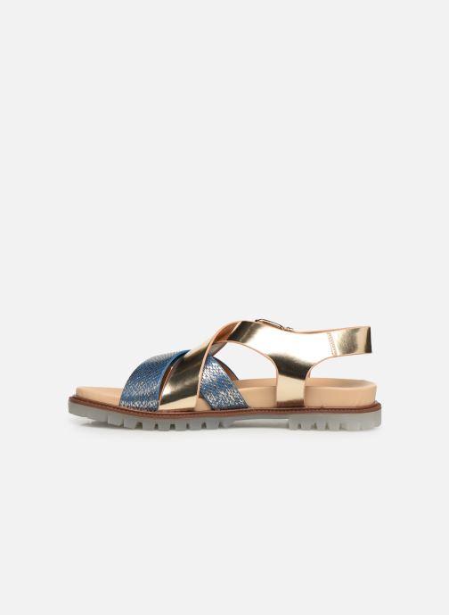 Sandales et nu-pieds Vanessa Wu SD1254 Or et bronze vue face