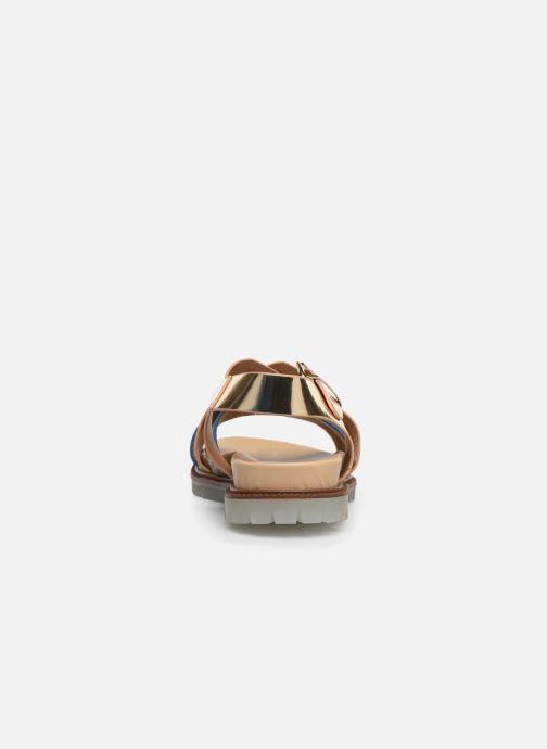 Sandales et nu-pieds Vanessa Wu SD1254 Or et bronze vue droite
