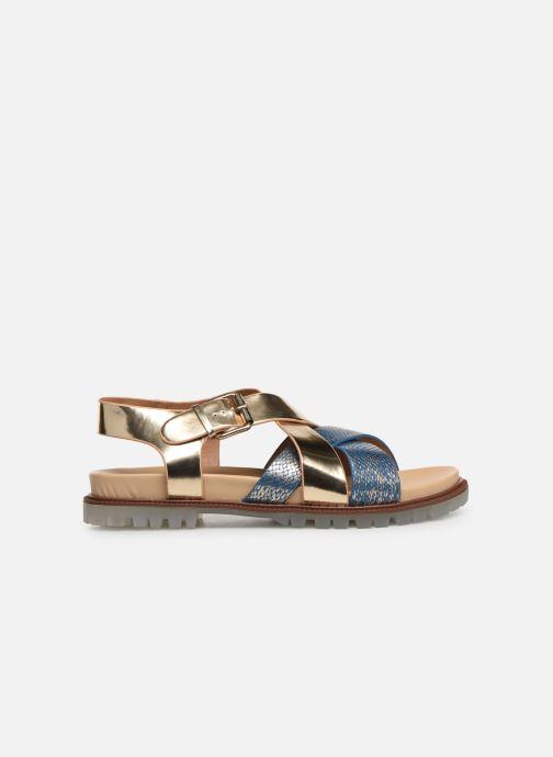 Sandales et nu-pieds Vanessa Wu SD1254 Or et bronze vue derrière