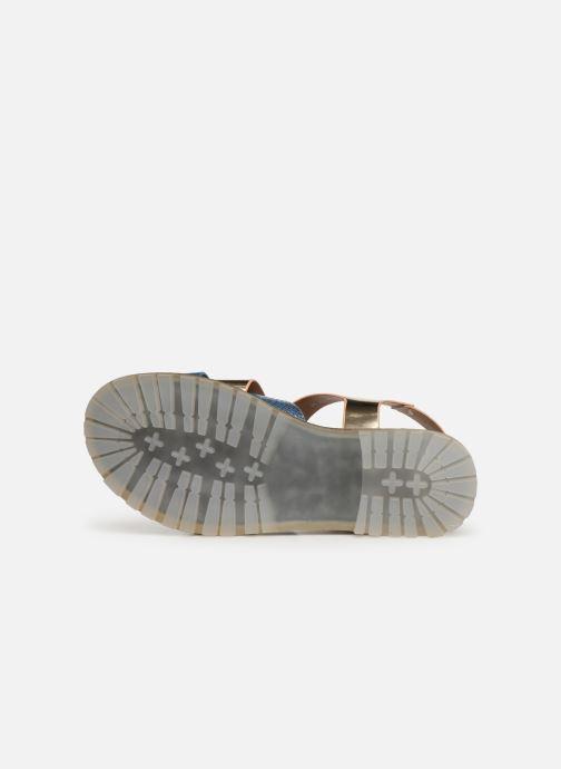 Sandales et nu-pieds Vanessa Wu SD1254 Or et bronze vue haut